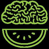 Green Brain Logo Icon