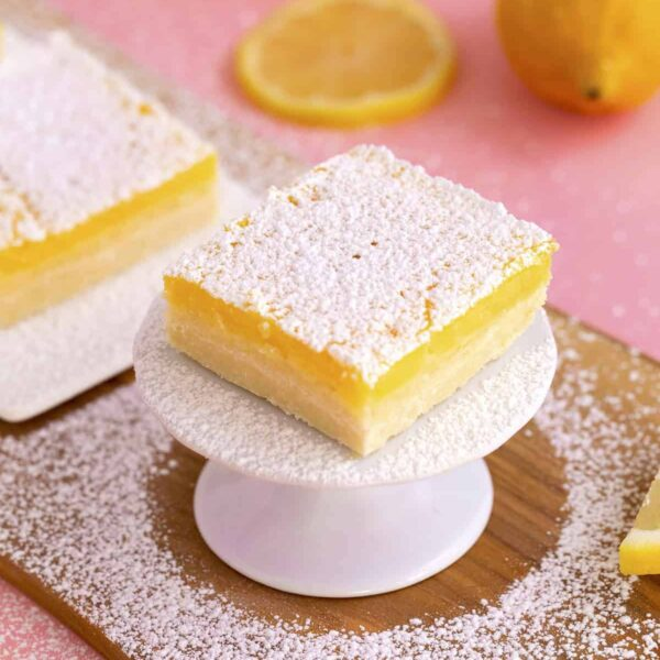 Healthy Lemon Bars Recipe