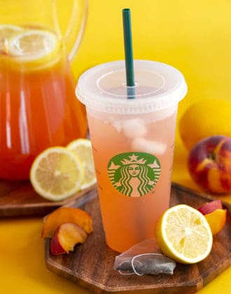 Iced Peach Green Tea Lemonade Recipe