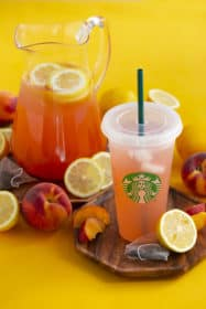 DIY Starbucks Iced Peach Green Tea Lemonade Recipe