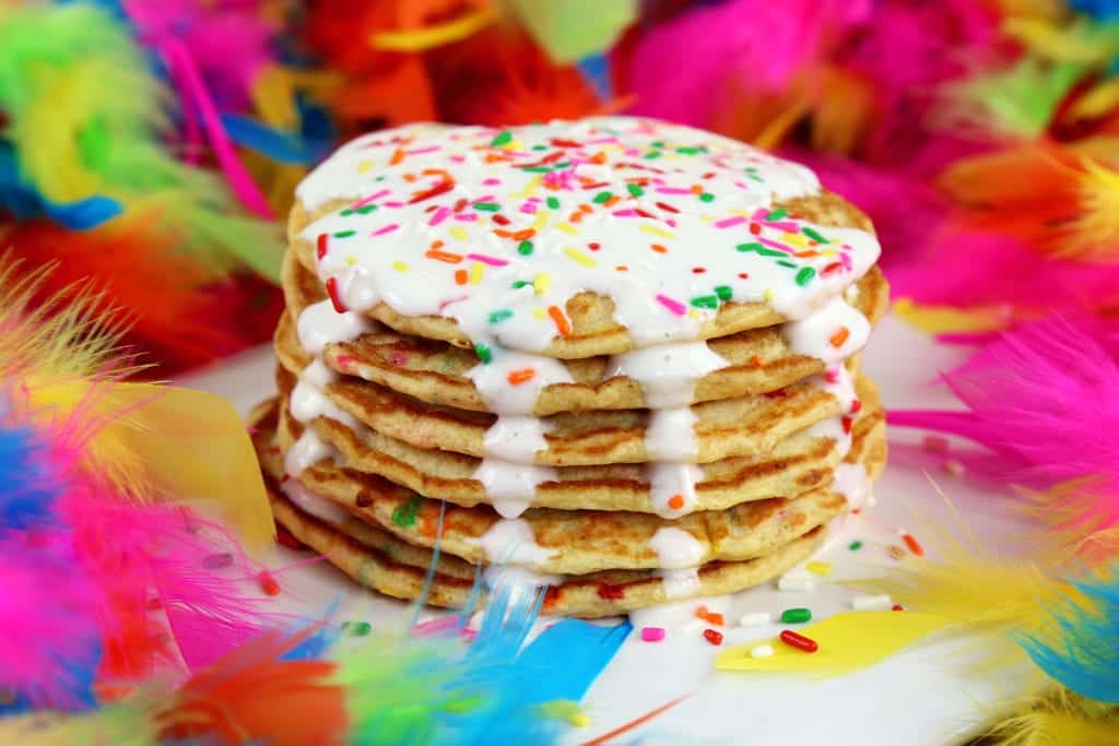 Birthday Cake Protein Pancakes NO Powder Mind Over Munch