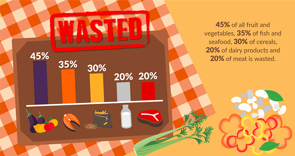 How Much Food Is Wasted, food waste facts, how much food is wasted in the us, reduce food waste