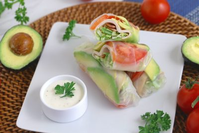 Turkey Summer Roll, Turkey Club Summer Roll, Cheap Healthy Lunch Ideas, easy healthy lunch ideas, healthy school lunch ideas, easy healthy lunch ideas for work