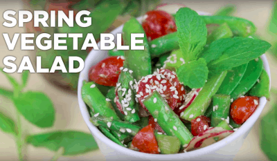 Spring Vegetable Salad, Easy Salad Recipe, easy healthy lunches, cheap easy meals, cheap lunch ideas, light lunch ideas, healthy packed lunches