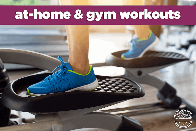 At home gym workout routines mind over munch