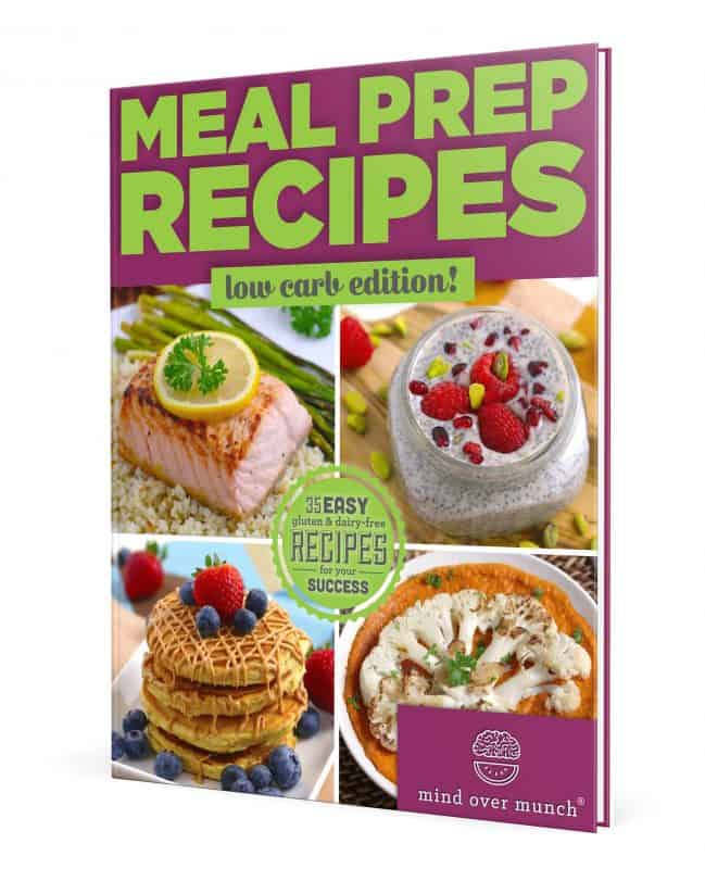 meal prep recipes low carb ebook cover mind over munch