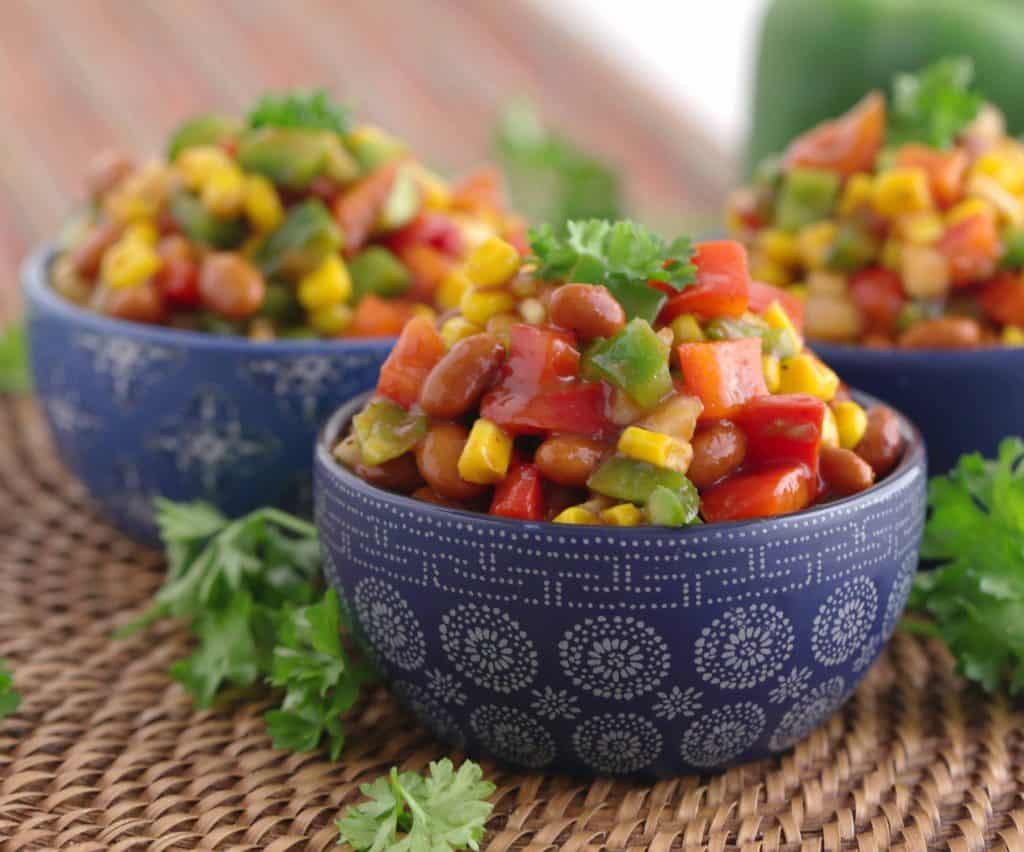Vegetarian Meal Prep Recipes, bbq bean salad, vegan lunch ideas, healthy vegetarian meal prep lunches