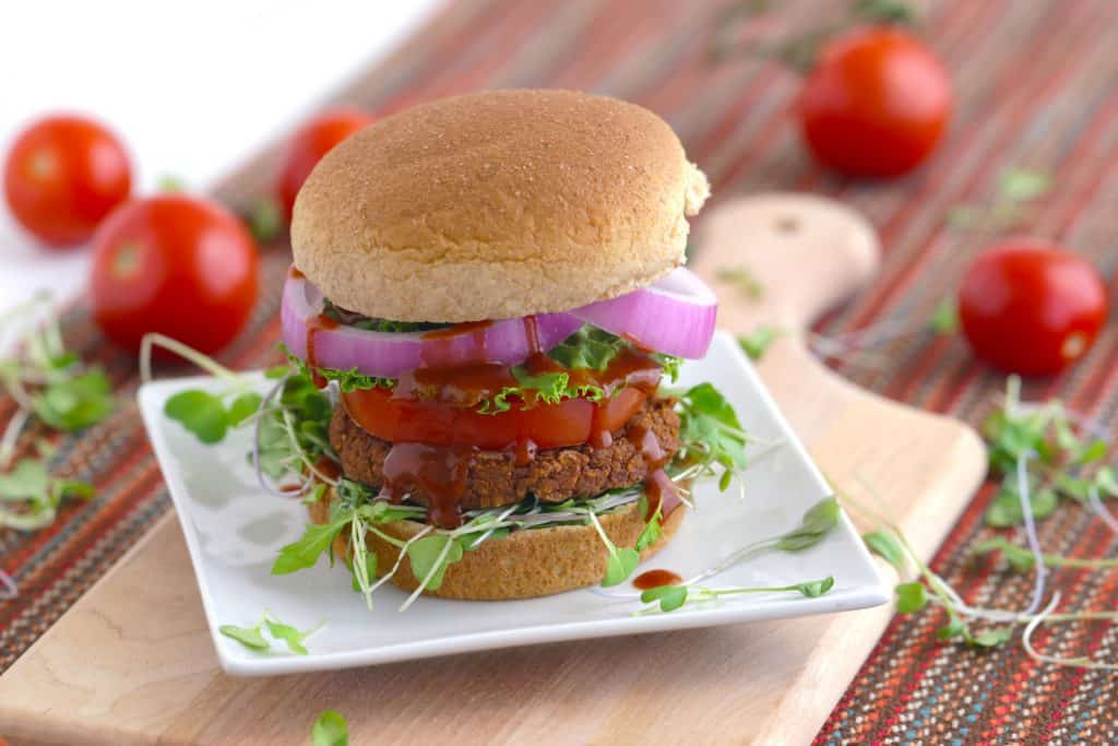Vegetarian Meal Prep Recipes, bbq bean burger, veggie burger recipe, bean burger recipe, vegan meal prep