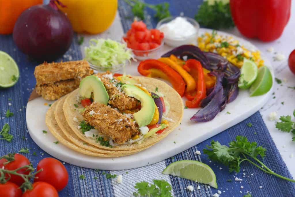 Vegetarian Meal Prep Recipes, chipotle tofu tacos, vegetarian tofu recipes, easy vegetarian lunch ideas