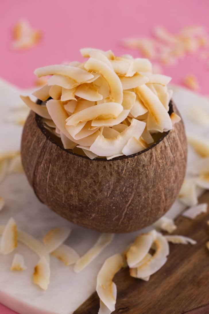 Keto Toasted Coconut Flakes