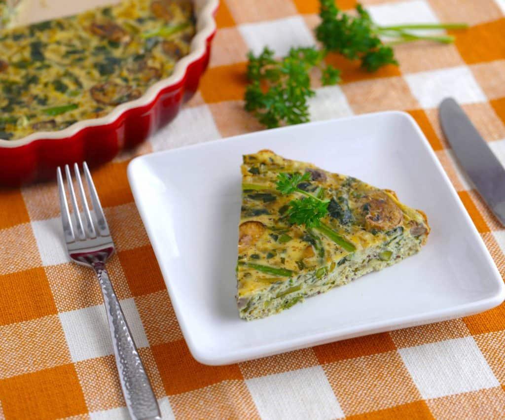 Vegetarian Meal Prep Recipes, crustless quiche, simple vegetarian meals, best vegetarian recipes
