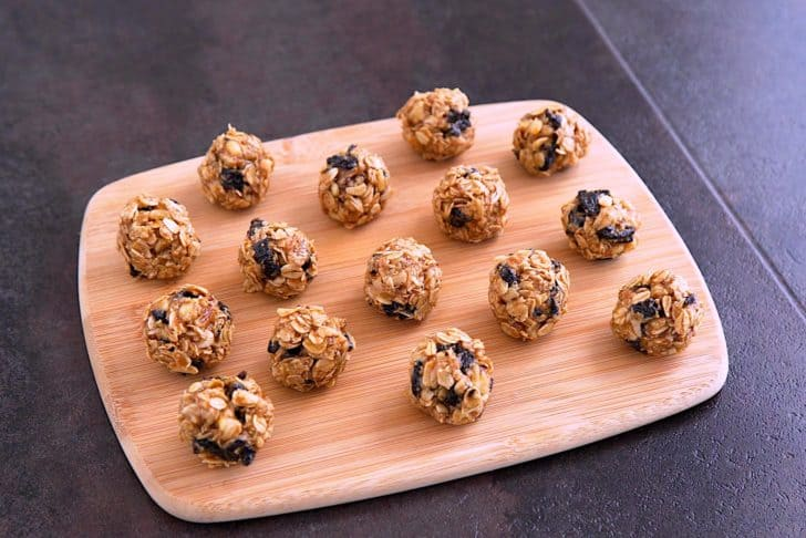 Portion mixture with a cookie scoop and roll into balls with your hands.