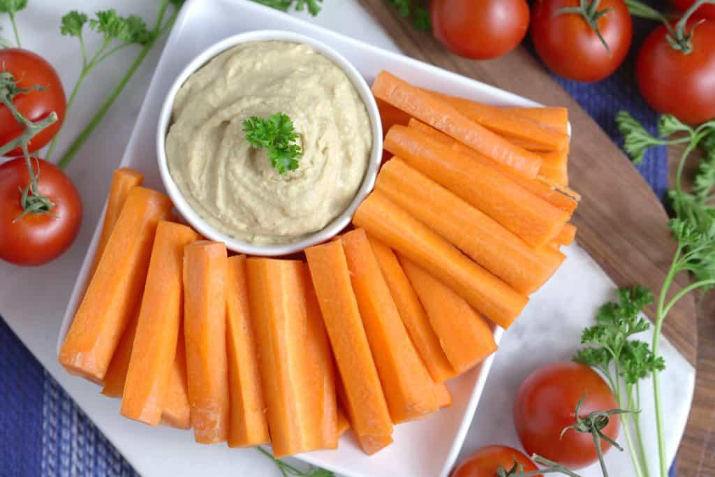 Vegetarian Meal Prep Recipes, homemade hummus, easy hummus recipe