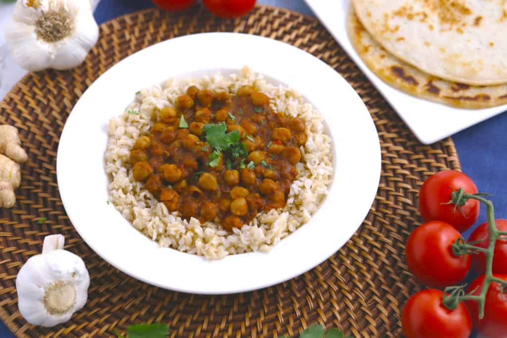 Vegetarian Meal Prep Recipes, slow cooker chana masala, vegetarian slow cooker meals, easy healthy vegetarian recipes, vegetarian dinner ideas