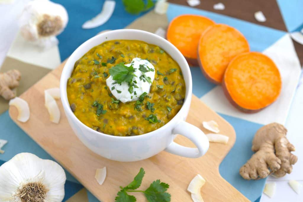 Vegetarian Meal Prep Recipes, sweet potato coconut lentil curry, vegetarian curry, lentil soup, best vegetarian recipes, vegetarian lunch ideas, simple vegetarian recipes