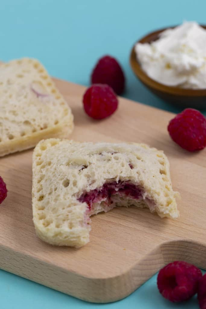 Jam and Cream Cheese Uncrustables Sandwiches