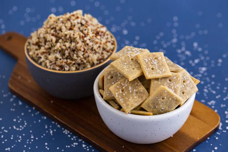 How to Make Gluten Free Crackers with Quinoa Flour