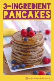 3 Ingredient Vegan Pancakes