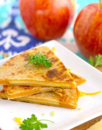 Apple Cheddar Quesadilla
