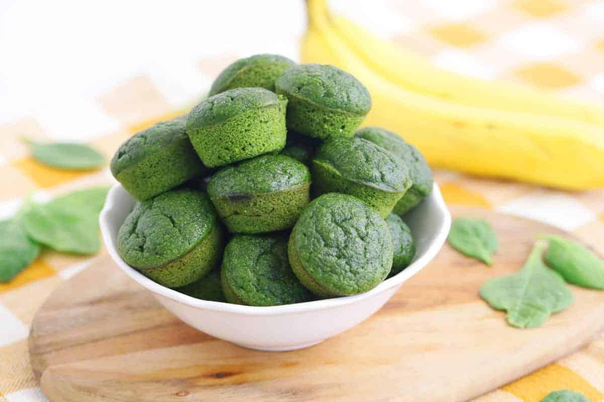 Spinach Banana Blender Muffins Gluten Free Whole Grain Mind