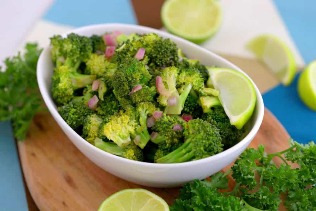 Cold Broccoli Salad Recipe, healthy broccoli salad, how to make broccoli salad, vegan broccoli salad, how to cook broccoli in microwave, microwave broccoli recipes