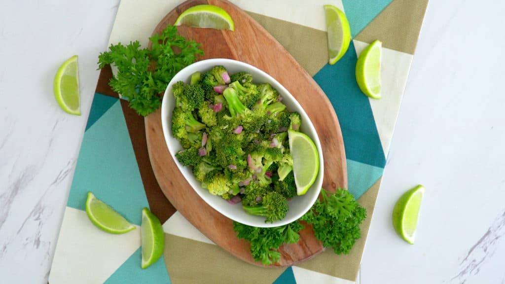 Cold Broccoli Salad Recipe, healthy broccoli salad, how to make broccoli salad, paleo broccoli salad, how to cook fresh broccoli in the microwave, microwave broccoli recipes