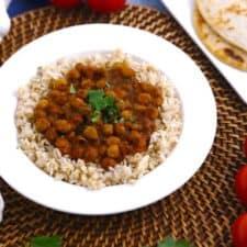Chana Masala Slow Cooker