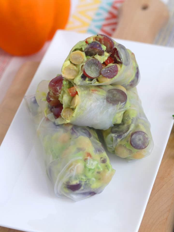 Chickpea Salad Summer Rolls