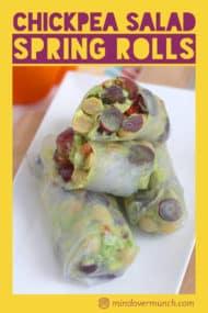Chickpea Salad Summer Rolls