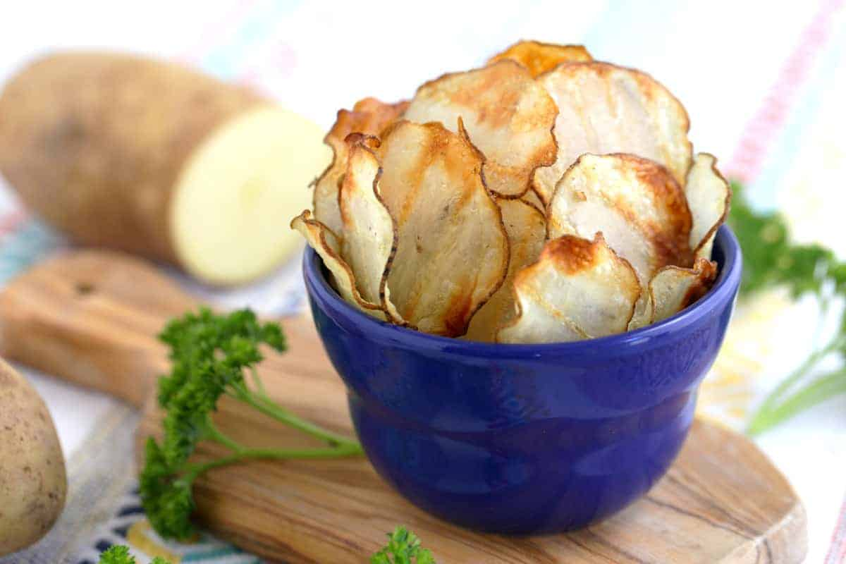 Crispy Baked Potato Chips