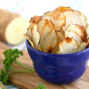 Crispy Baked Potato Chips