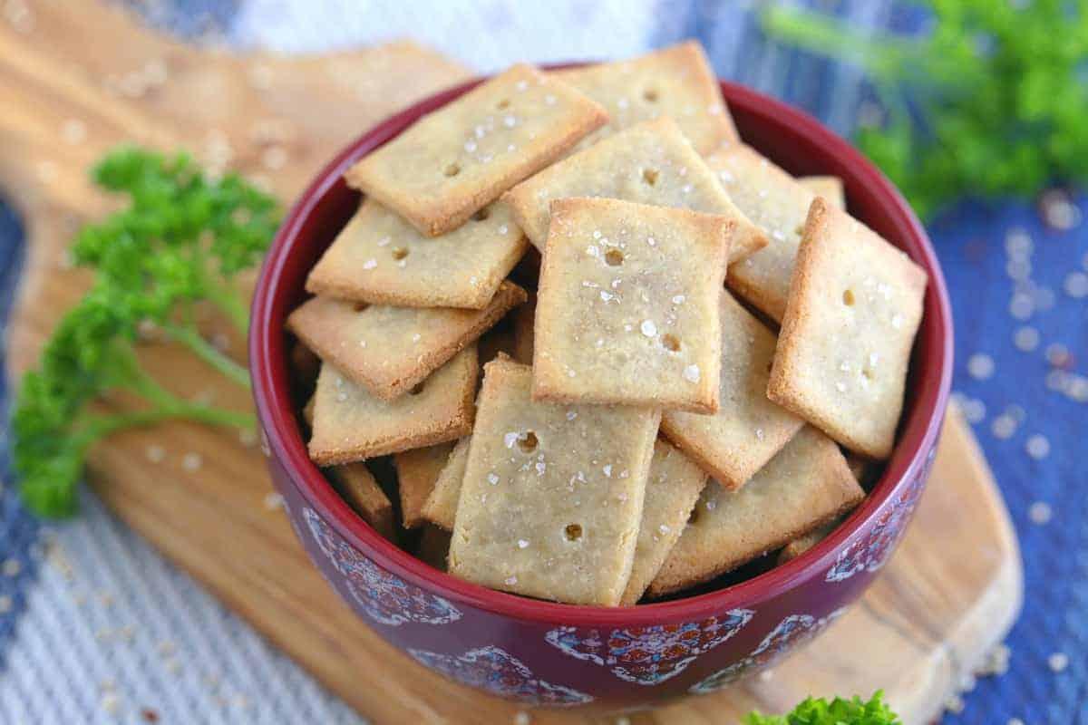 Homemade Quinoa Crackers