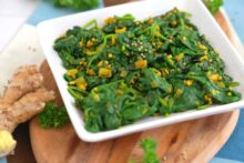 Indian Spiced Sauteed Spinach