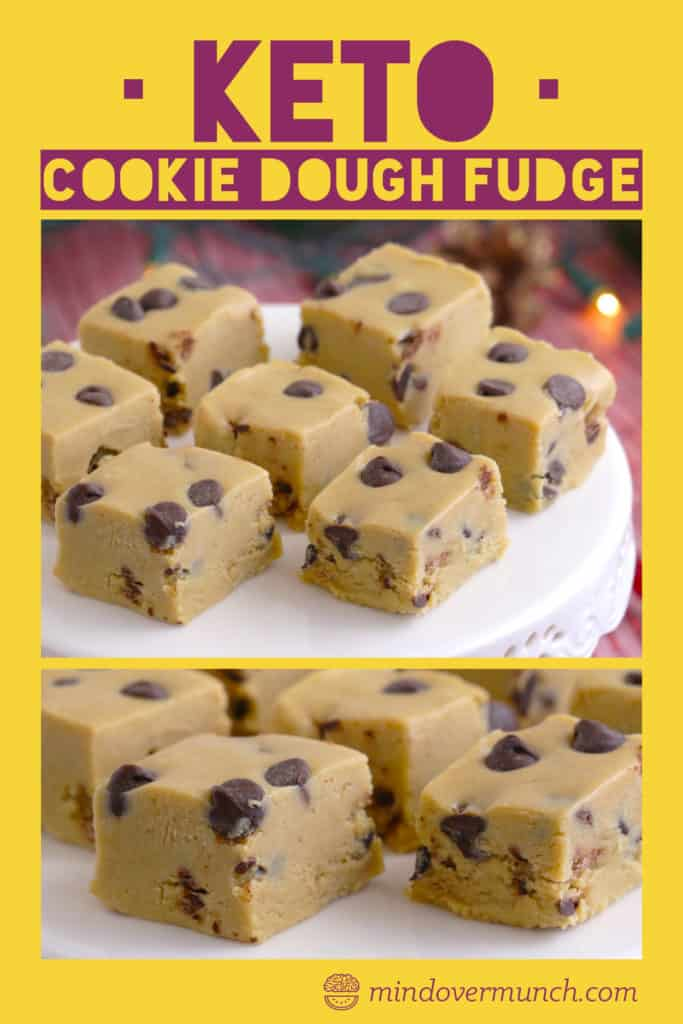 Low Carb Cookie Dough Fudge