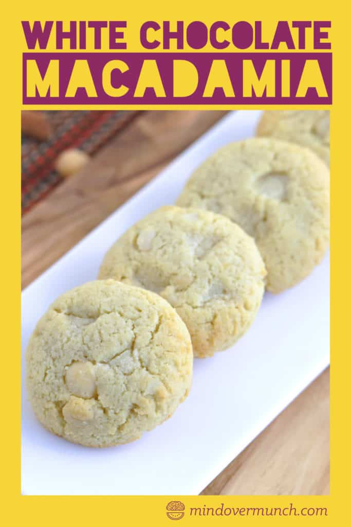 Low Carb White Chocolate Macadamia Nut Cookies