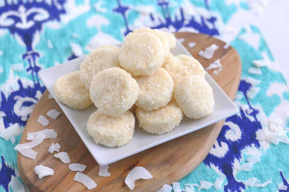 No Bake Coconut Cookies