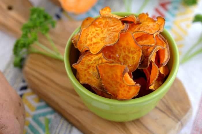 Oven Baked Sweet Potato Chips Easy Paleo Snack Mind Over Munch