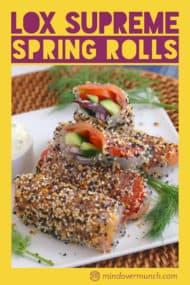 Smoked Salmon Summer Rolls