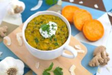 Sweet Potato Coconut Curry Lentil Soup