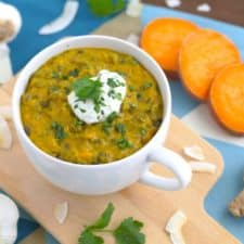 Sweet Potato Coconut Curry Lentil Soup
