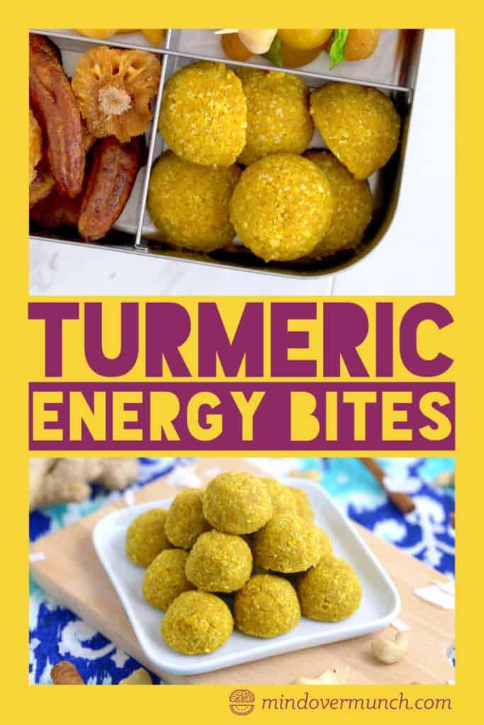 Turmeric No Bake Energy Bites