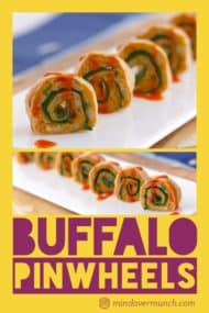 Vegan Buffalo Chickpea Pinwheels