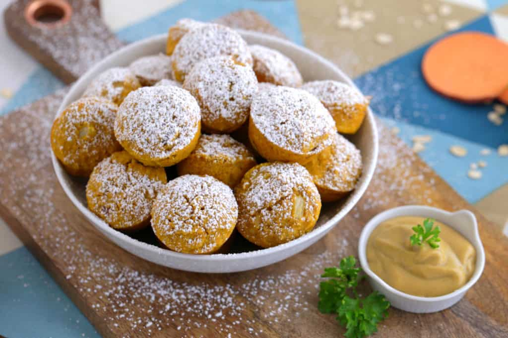 gluten free baked hush puppies, baked sweet potato hush puppies, baked hush puppies recipe easy, easy thanksgiving appetizers