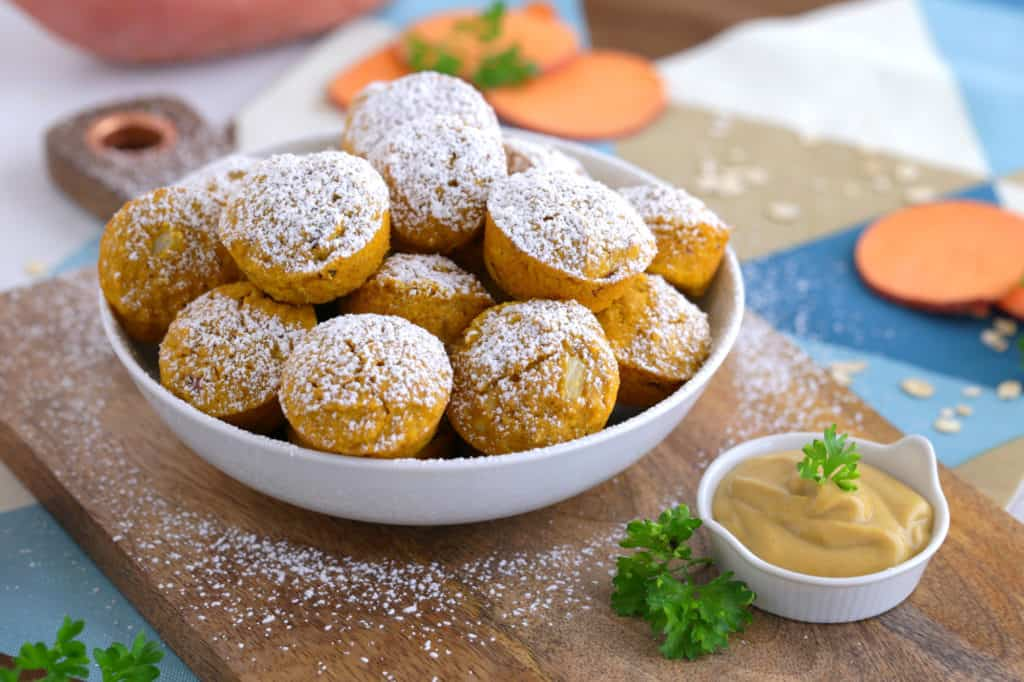 gluten free baked hush puppies, baked sweet potato hush puppies, healthy baked hush puppies, baked hush puppies recipe easy, easy thanksgiving appetizers