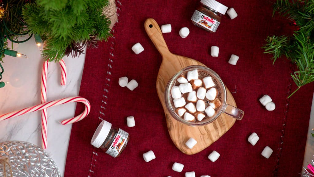 Nutella Hot Chocolate Recipe, how to make nutella hot chocolate, hot chocolate with nutella and milk, how to make nutella hot chocolate, hazelnut hot chocolate