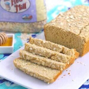 honey oat bread recipe, oat flour bread recipe, gluten free oat bread recipe, gluten free bread recipe without yeast