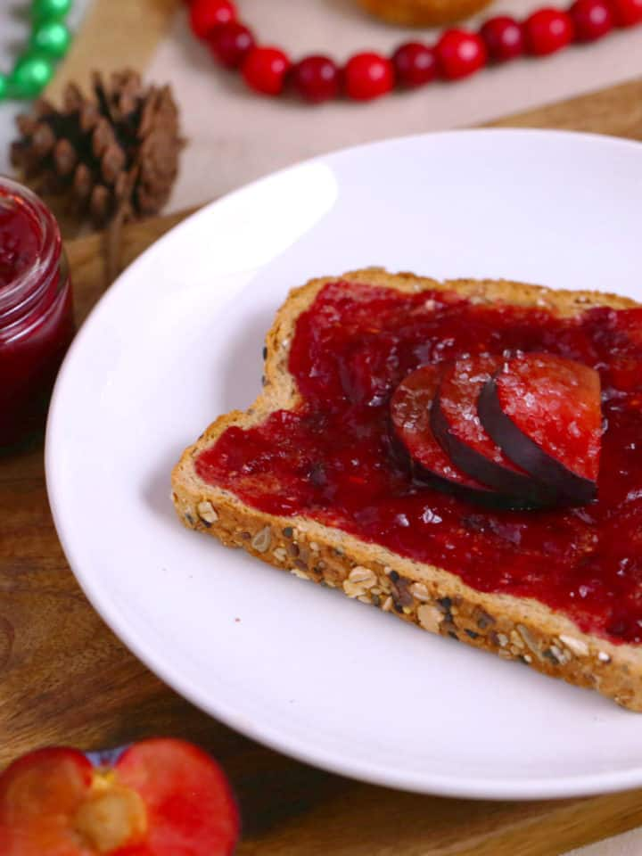 Sugar Plum Jam Recipe, How to make plum jam, plum jam without pectin, plum jam no pectin