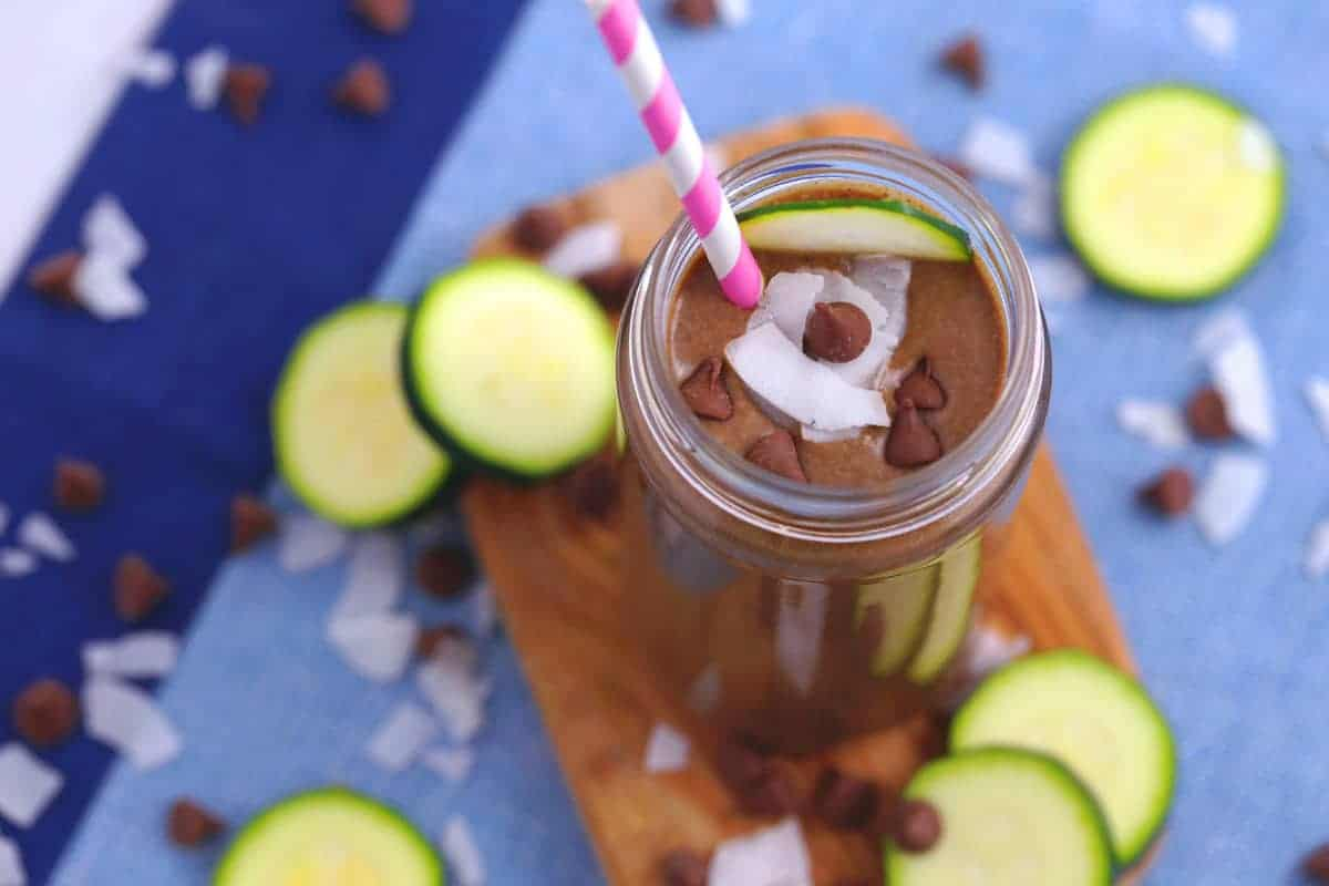 Chocolaty Coconut Zucchini Smoothie Low Carb Breakfast Smoothie