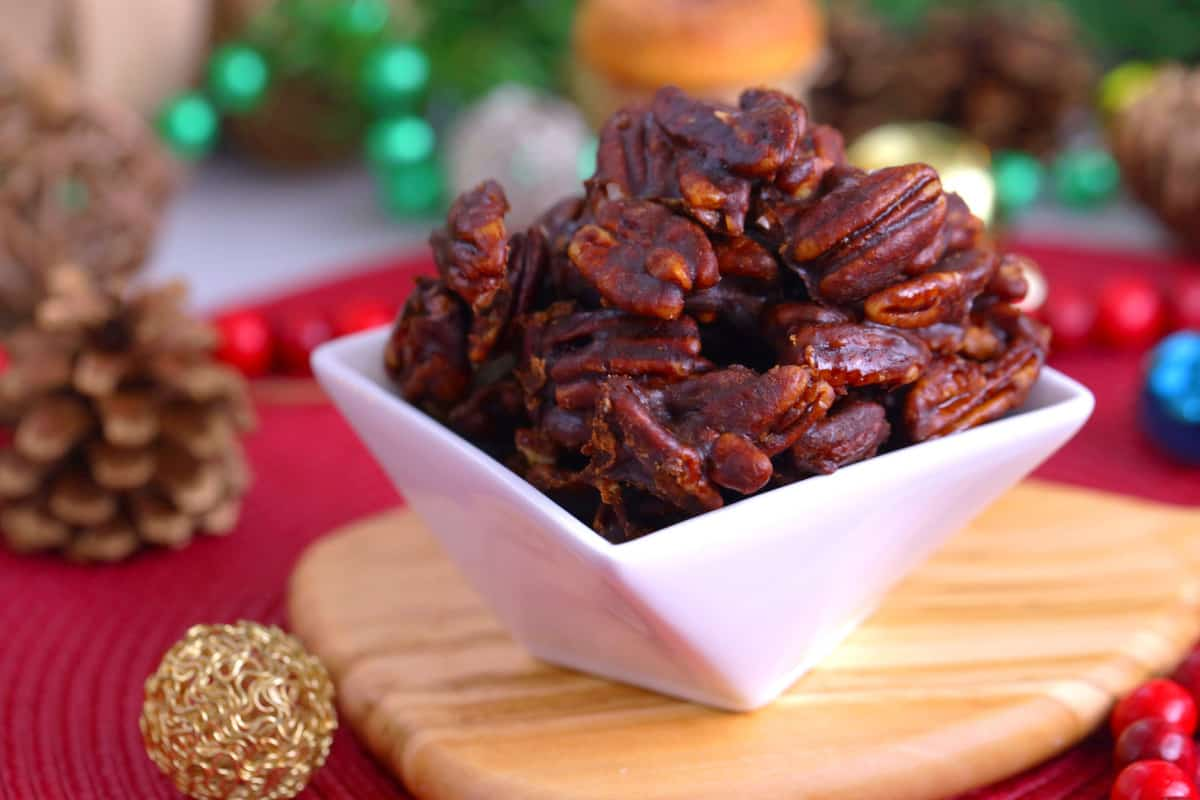 Glazed Pecans Recipe, how to make glazed pecans, cinnamon sugar pecans, sugar glazed pecans
