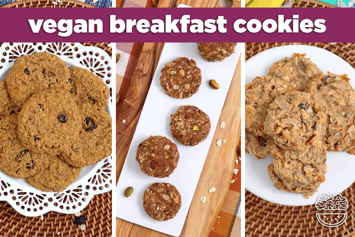 Vegan Breakfast Cookies 3 Ways Paleo Gluten Free No Bake